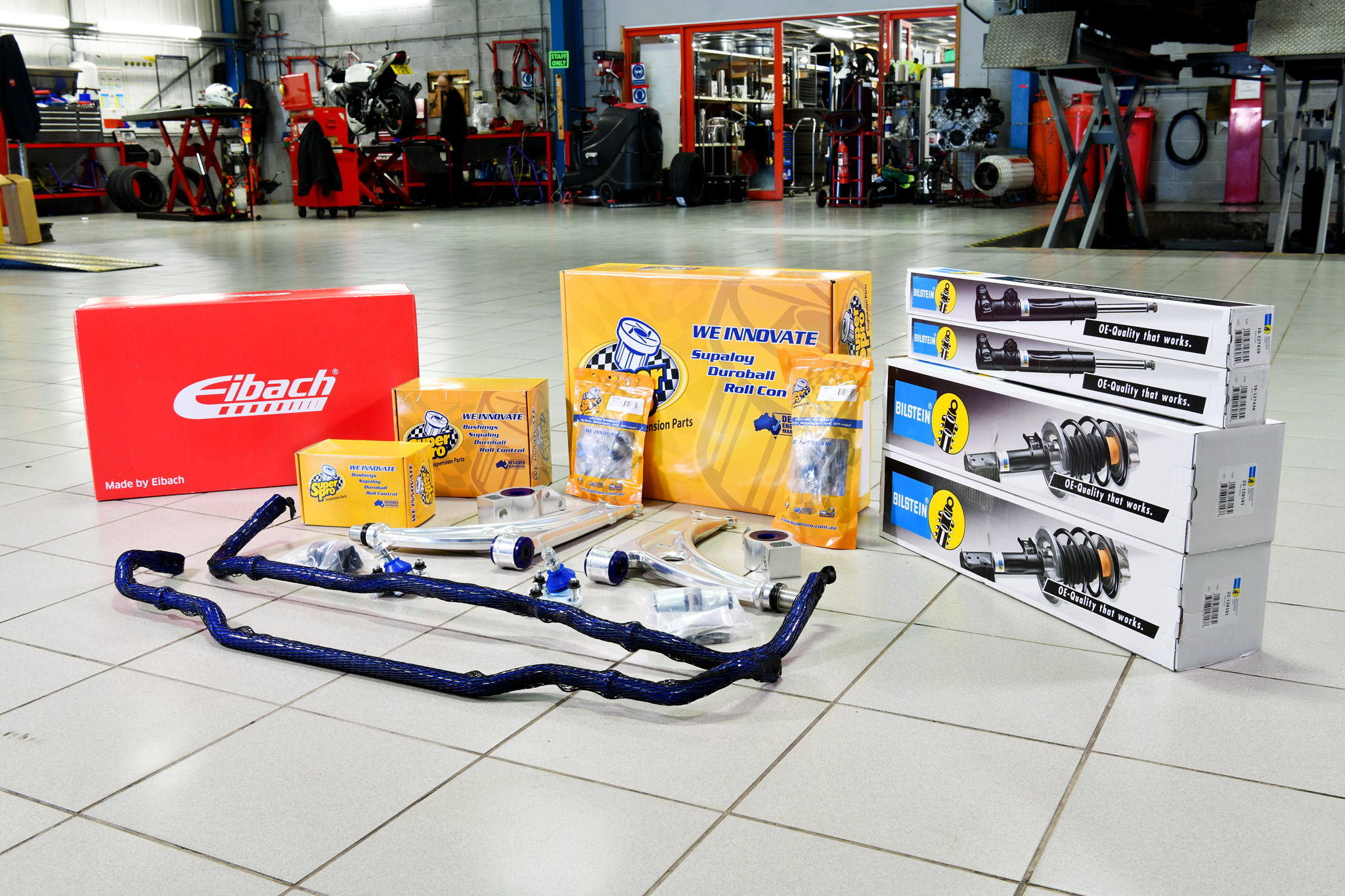 SuperPro's Handling Package including Eibach Pro-Kit springs and Bilstein OE-spec B4 dampers