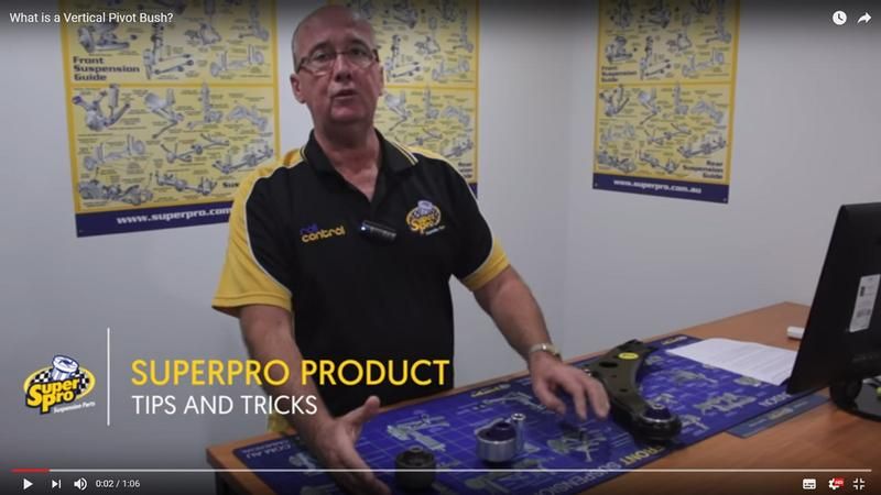 What is a Vertical Pivot Bush? SuperPro's Graham talks you through it