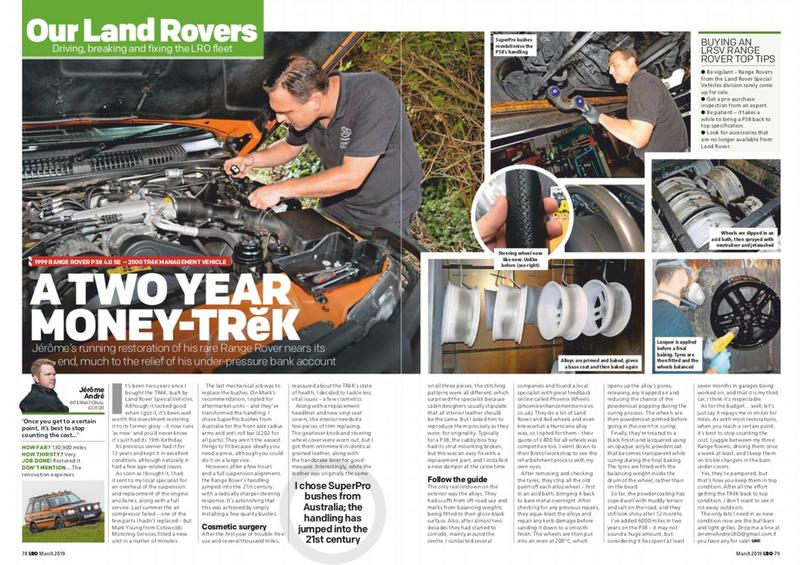 Range Rover P38 Restoration with LRO magazine