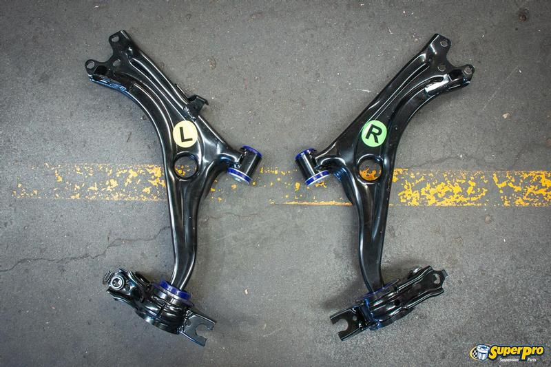 Honda Civic FK Front Control Arm Replacement Kit pre-fitted with SuperPro's superior bushes