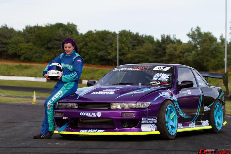 Introducing Kirsty Widdrington (and Syril) to the British Drift Championship 2017