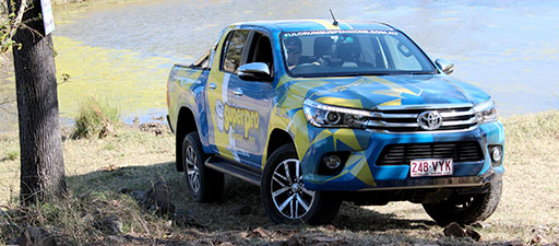 SuperPro Hilux on test in the Australian Outback