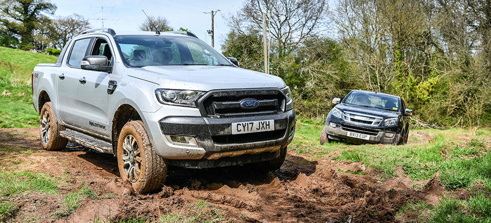SuperPro's Isuzu D-Max and Ford Ranger Wildtrak in Devon