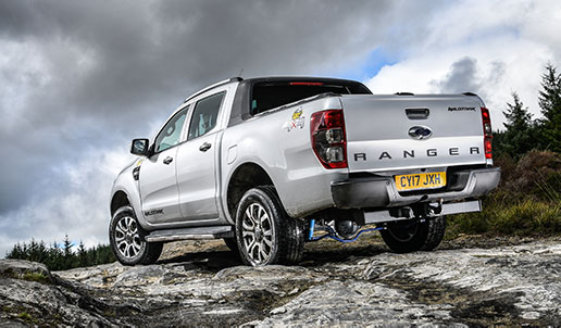 Ford Ranger on product testing in Wales