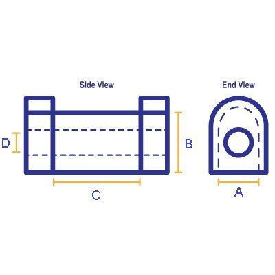 SPF1450-22K: A=32mm B=35mm C=32mm D=12mm