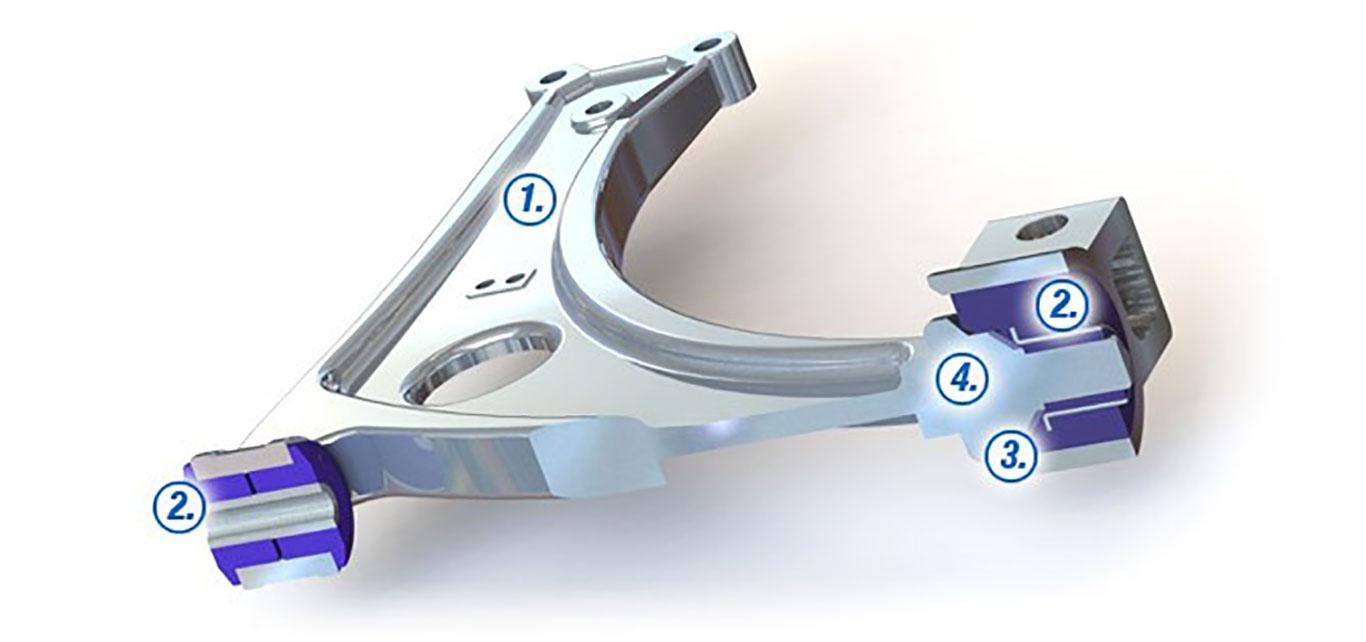 Supaloy Control Arm Diagram